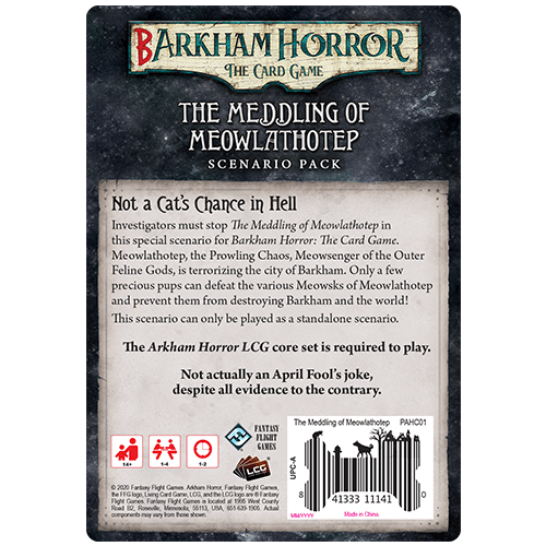 Barkham Horror The Meddling of Meowlathotep Backview   BoardgameShop