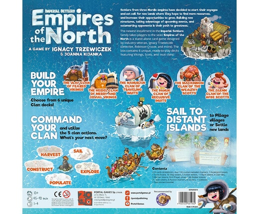 Imperial Settlers Empires of the North Backside   BoardgameShop