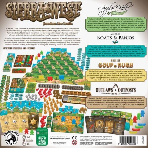 Sierra West Backside   BoardgameShop