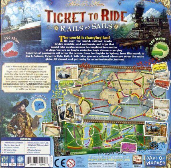 Ticket to Ride Rails Sails Backside | BoardgameShop