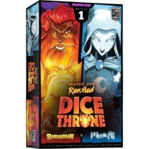 dice throne season one rerolled barbarian vs moon elf - cover